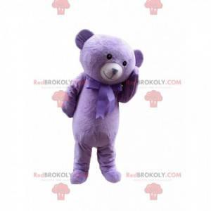 Lila Teddybär Maskottchen, riesiges lila Bärenkostüm -