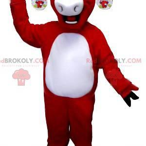 Rotes und weißes Kiri-Kuhmaskottchen - Redbrokoly.com