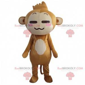 Mascotte van de aap Yoyo en Cici, beroemde bruine aap -