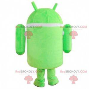 Mascota de Android, robot verde y blanco, disfraz de robot -