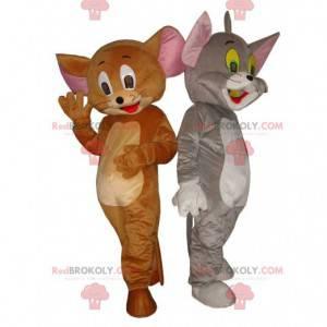 Mascottes van Tom en Jerry, beroemde stripfiguren -