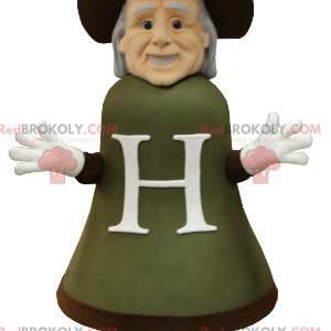 Maskot starý muž ve tvaru obřího zvonu - Redbrokoly.com
