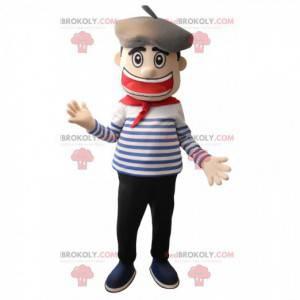 Basque man sailor mascot - Redbrokoly.com