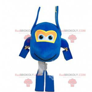 Kæmpe blåt maskot, stort fly kostume - Redbrokoly.com