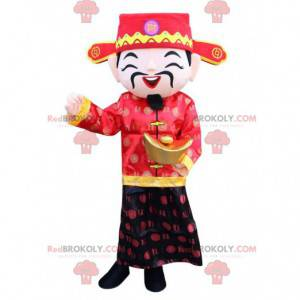 Asiatisches Männerkostüm, Glücksgottkostüm - Redbrokoly.com