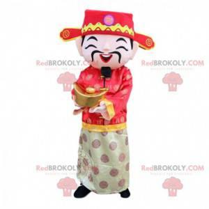 Disfraz de hombre asiático, disfraz de dios de la fortuna -