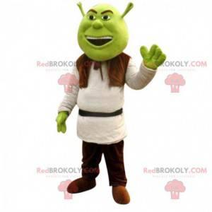 Shrek maskot, berømt tegneserie grøn ogre med samme navn -