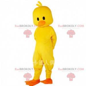 Mascotte gele kanarie, kostuum gigantische vogel -
