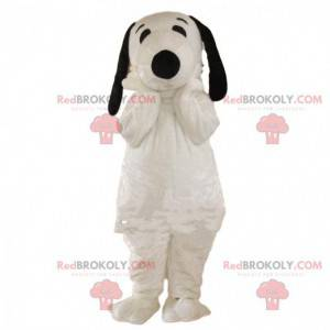 Snoopy mascot, famous cartoon white and black dog -