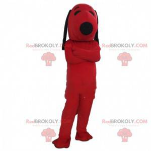 Mascot Snoopy, the famous comic book dog, red dog costume -