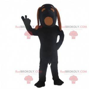 Snoopy kostume, den berømte tegneserie hund, sort hund kostume