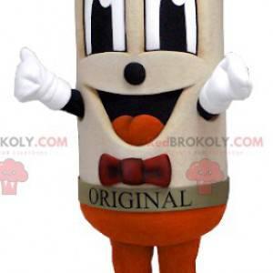 Großes lächelndes beige Mannwurstmaskottchen - Redbrokoly.com