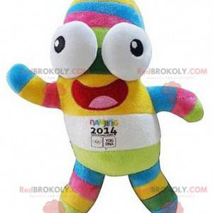 Multicolored mascot of the 2014 Nanjing Olympics -