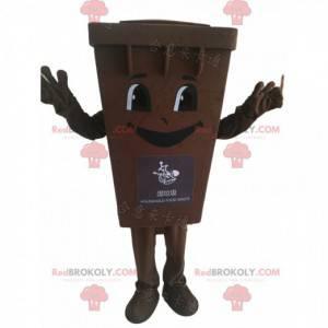 Brown trash mascot costume dumpster - Redbrokoly.com
