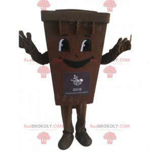 Disfraz de mascota de basura marrón contenedor de basura -