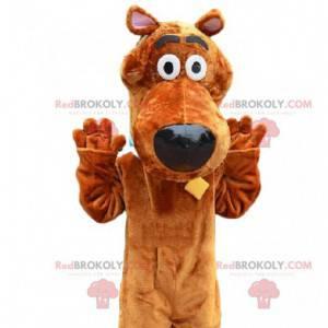 Mascot Scooby -Doo, the famous cartoon German dog -