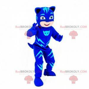 Chłopiec maskotka przebrany za kota, kostium Catwoman -