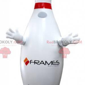 Gigantisk hvit og rød bowlingmaskot - Redbrokoly.com