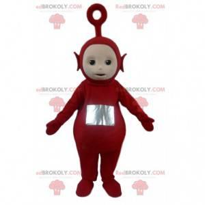 Mascote de Po, o famoso alienígena vermelho dos Teletubbies -