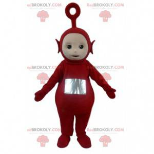 Maskot Po, slavný červený mimozemšťan Teletubbies -