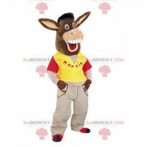 Jenny brown donkey mascot - Redbrokoly.com