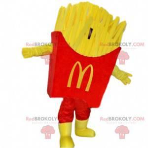 Mascote de batata frita do Mc Donald's cone de batatas fritas -