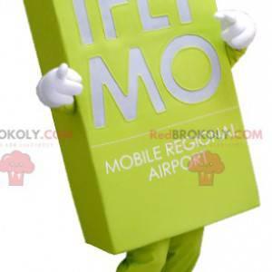 Obří neonově zelený štítek maskot - Redbrokoly.com