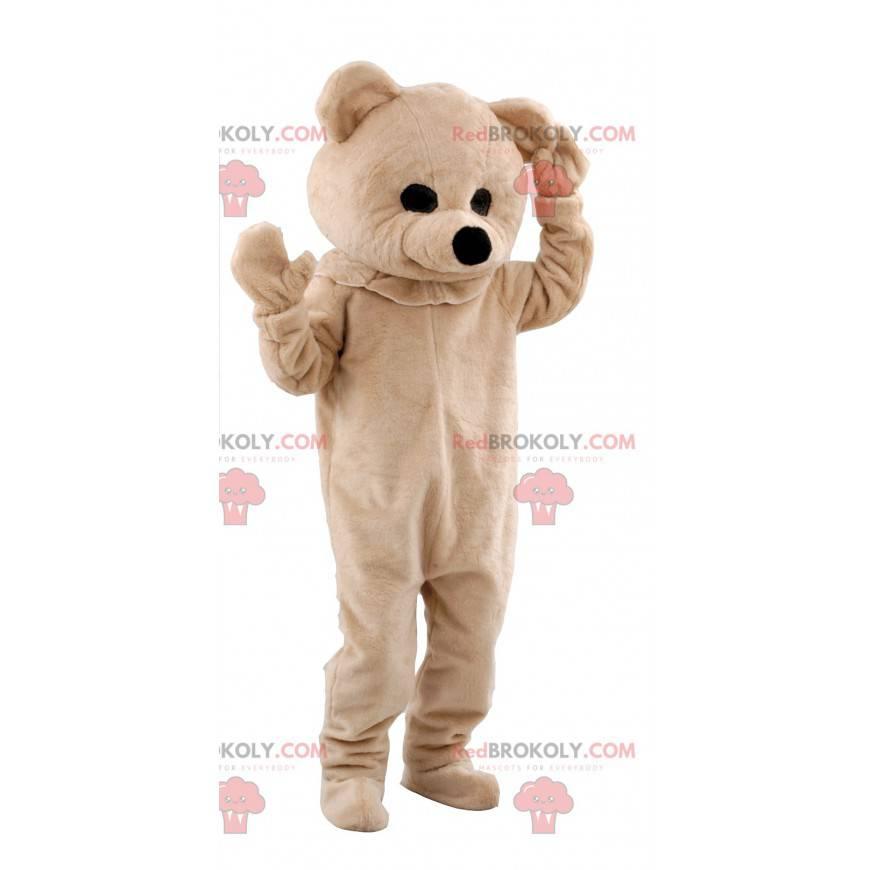 Béžový medvěd maskot - Redbrokoly.com
