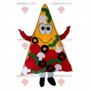Kæmpe pizzaskive maskot, pizzeria kostume - Redbrokoly.com