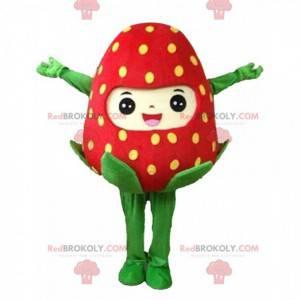 Obří červený jahodový maskot, jahodový kostým - Redbrokoly.com