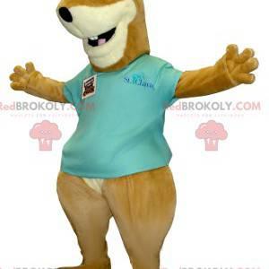 Mascote da marmota esquilo marrom e branco - Redbrokoly.com