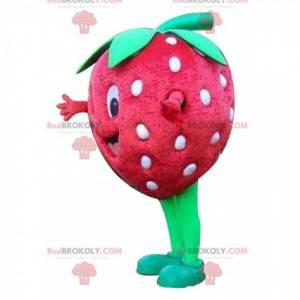 Mascota de fresa roja gigante, disfraz de fresa - Redbrokoly.com
