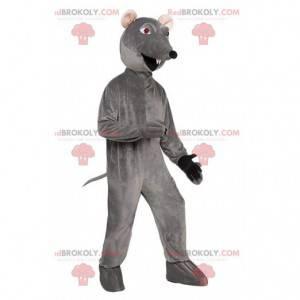 Mascotte ratto grigio, costume da roditore, topo -