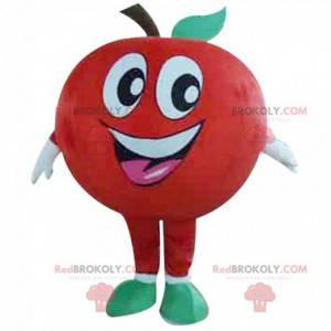 Mascota de manzana roja gigante, disfraz de manzana -