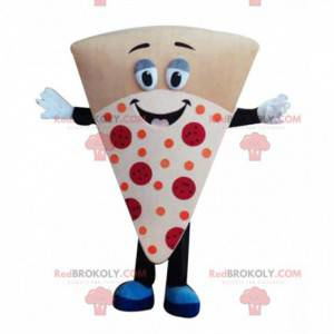 Mascotte trancio di pizza gigante, costume da pizzeria -