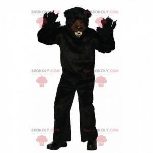 Heftiges Schwarzbärenmaskottchen, furchterregendes haariges