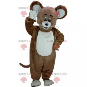 Brown and white mouse mascot, big mouse costume - Redbrokoly.com