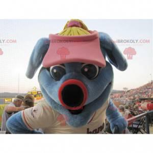 Rabbit blue animal mascot - Redbrokoly.com