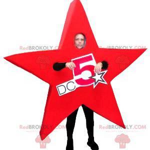 Obří rudá hvězda maskot - Redbrokoly.com