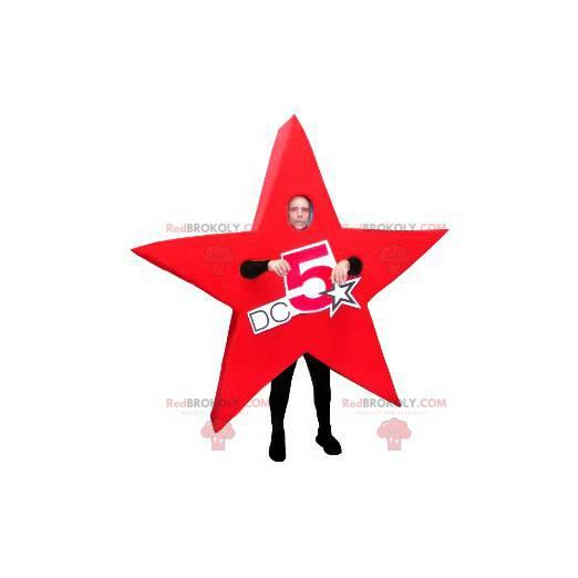 Riesiges Maskottchen mit rotem Stern - Redbrokoly.com