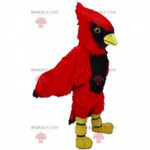 Mascotte cardinale rosso, costume da uccello gigante -