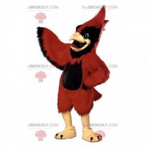 Mascote cardeal vermelho, fantasia de pássaro gigante -