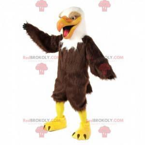 Mascotte di aquila gigante, costume da avvoltoio, grande