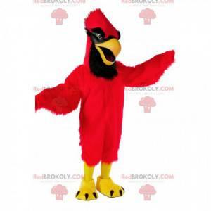 Mascotte rode kardinaal, kostuum gigantische vogel -