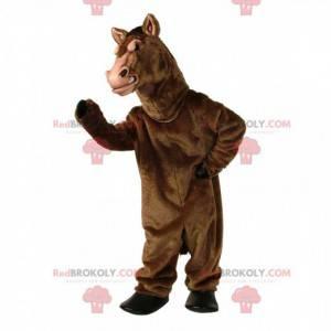 Brun hest maskot, realistisk stor hest kostyme - Redbrokoly.com