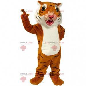 Orange, hvid og sort tigermaskot ser hård ud - Redbrokoly.com