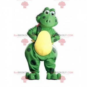 Groene en gele kikker mascotte, kikkerkostuum - Redbrokoly.com