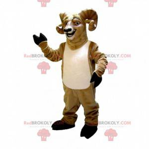 Mascotte di capra con le corna, costume da ariete -