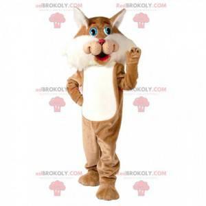 Brown and white cat mascot, giant cat costume - Redbrokoly.com