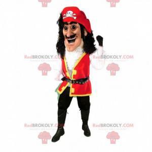 Pirat maskot, pirat kaptajn kostume - Redbrokoly.com